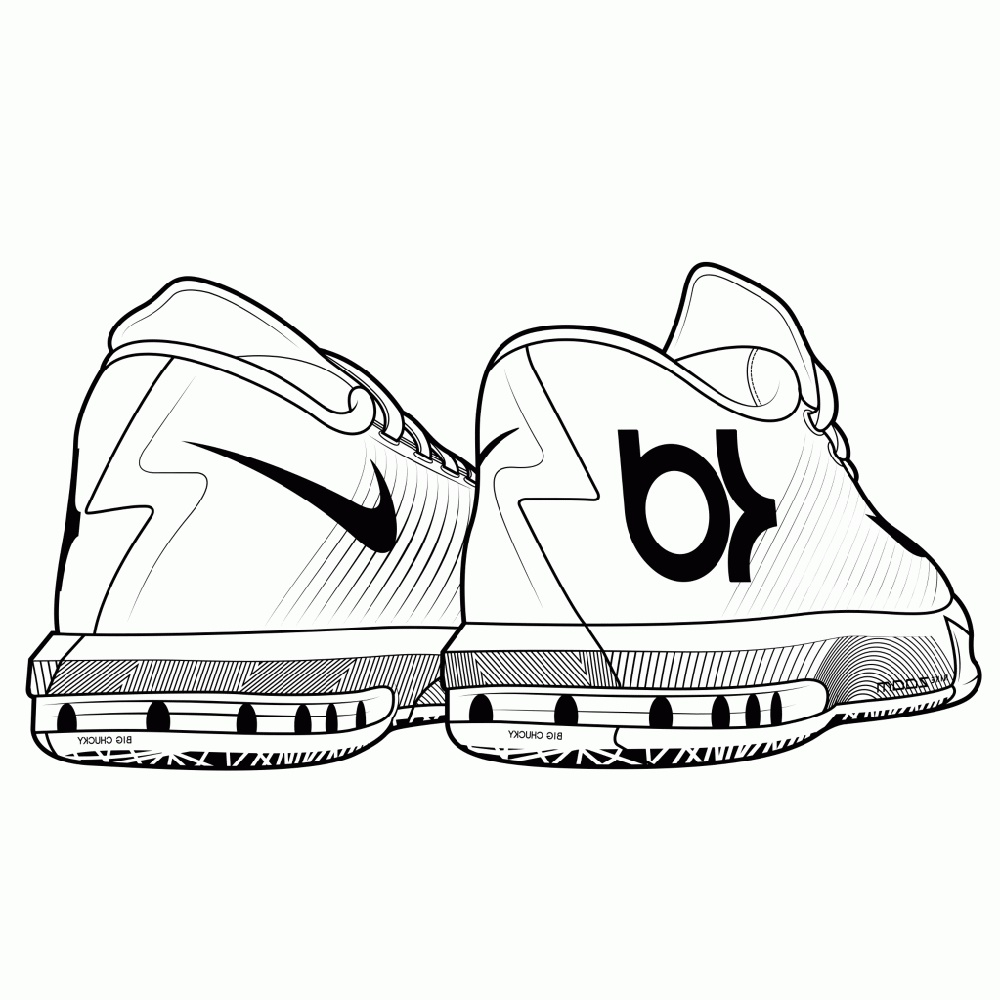 Jordan Shoes Coloring Pages To Print