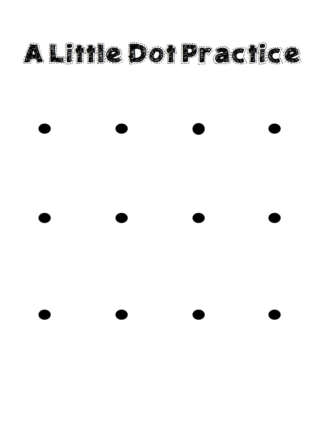 Kids Activities To Print Dot
