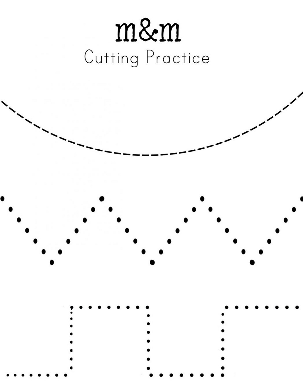Kindergarten Practice Worksheets Cutting