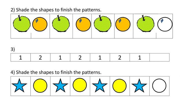 Kindergarten Printable Worksheets Pattern
