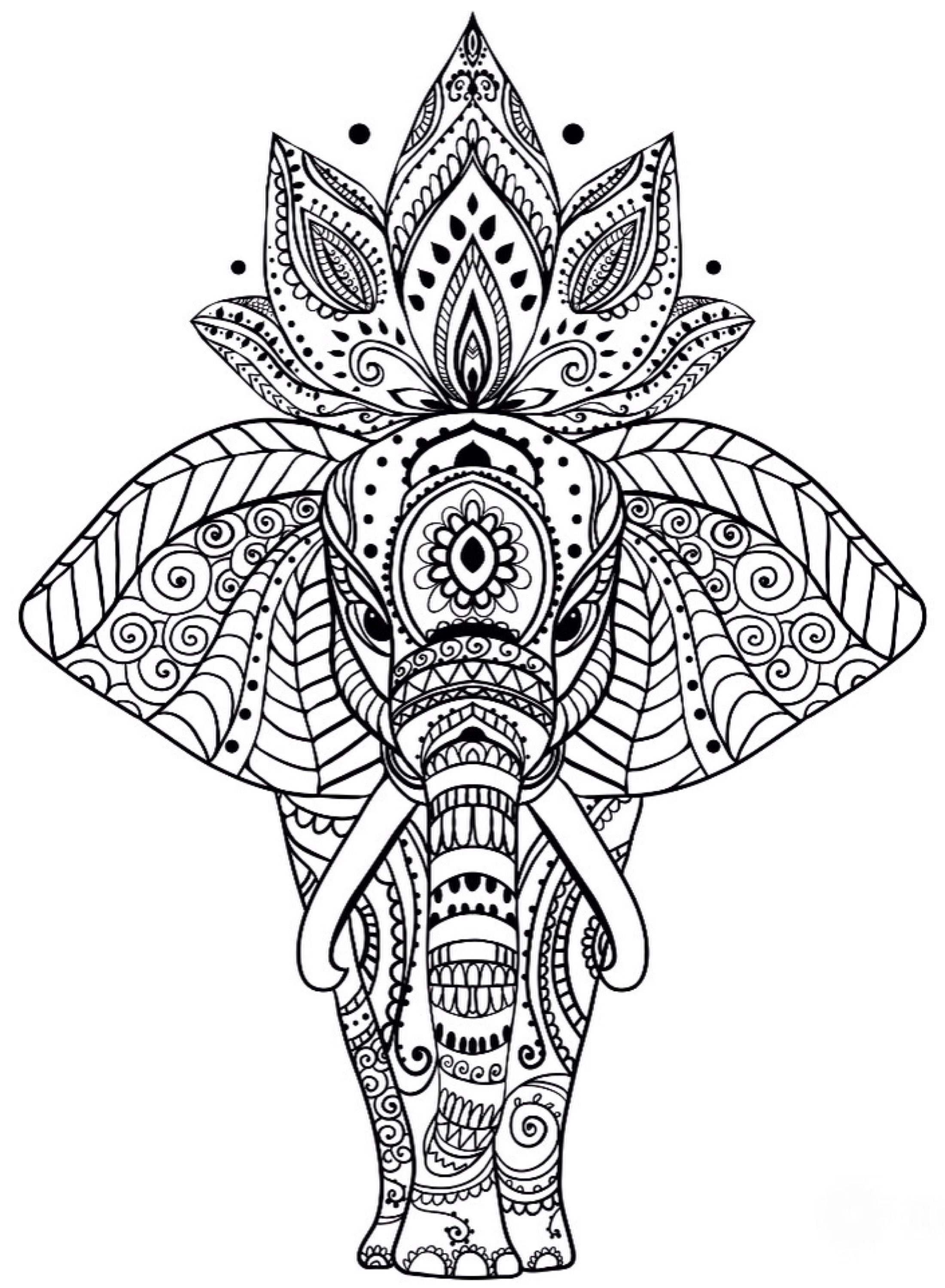 Mandala Coloring Pages Animal
