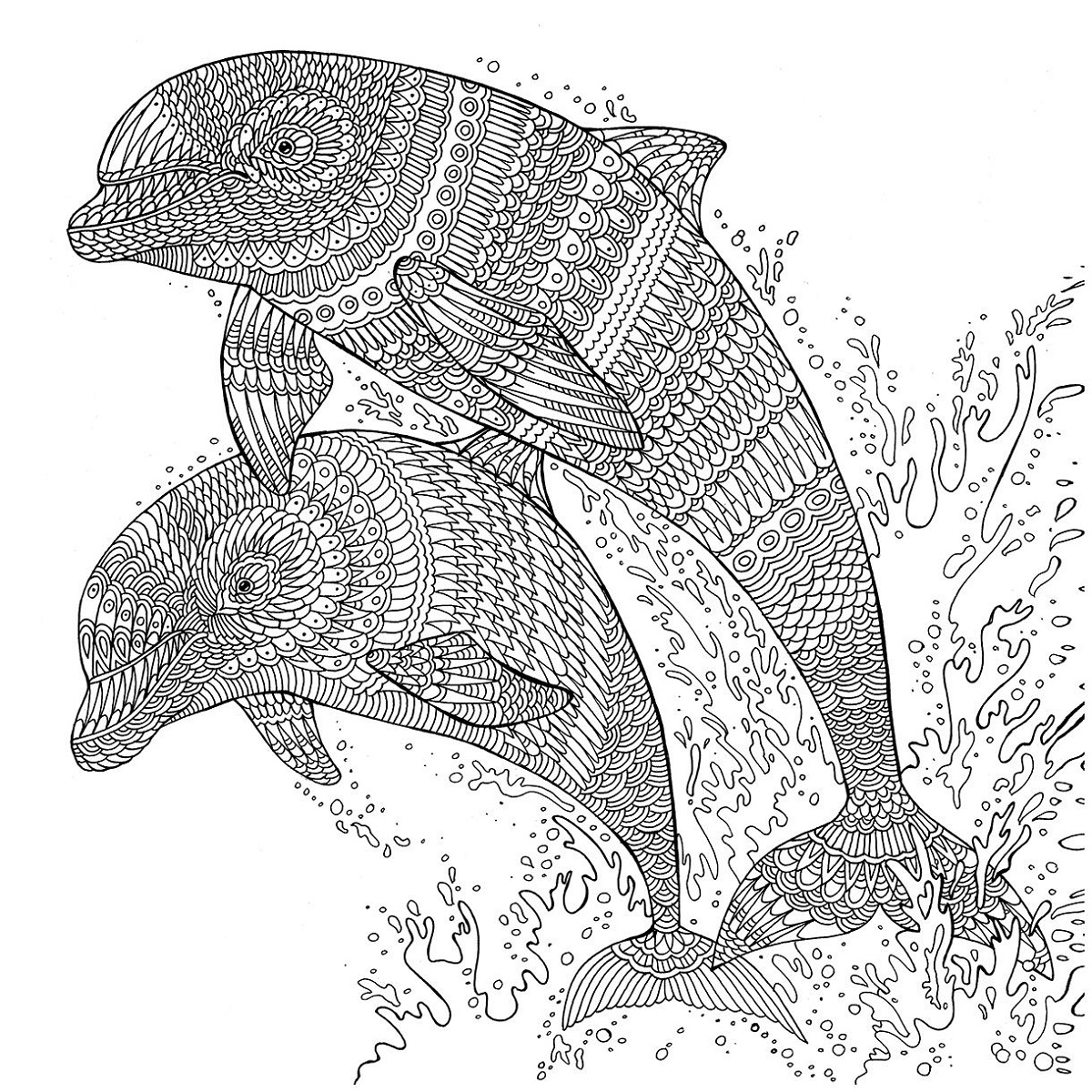 Mandala Coloring Pages Dolphin