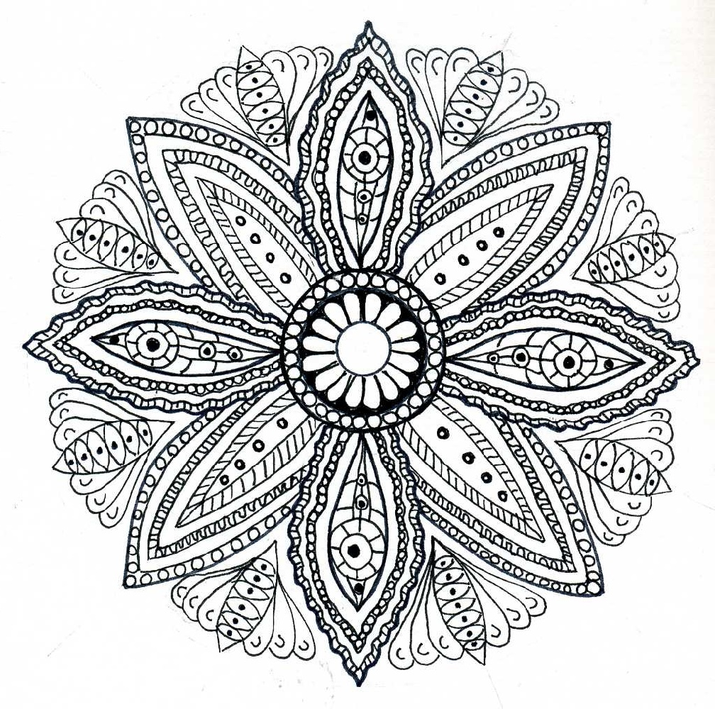 Mandala Coloring Pages Lotus