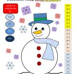 Math Games Worksheets Snowman