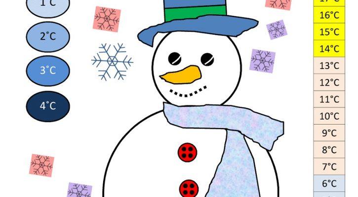 Math Games Worksheets Snowman