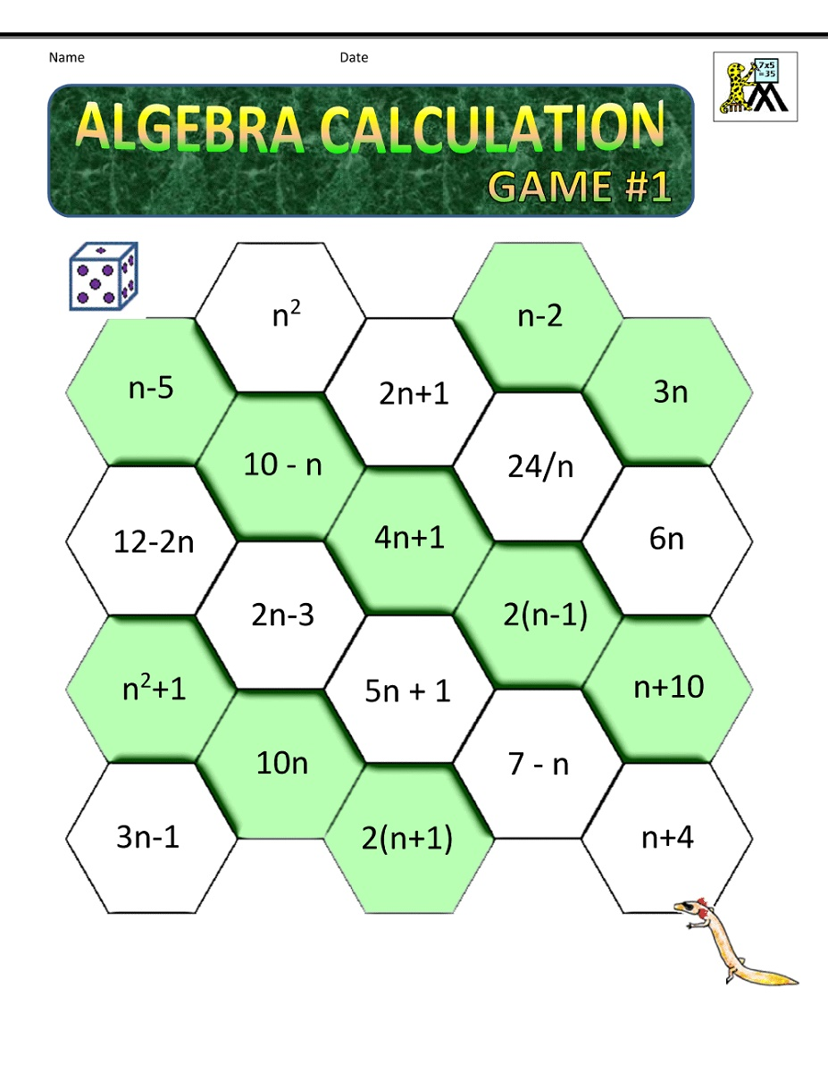 Math Worksheets For Adults Algebra