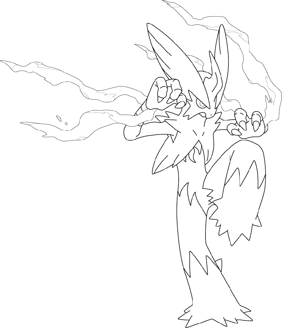 Mega Pokemon Coloring Pages Blaziken