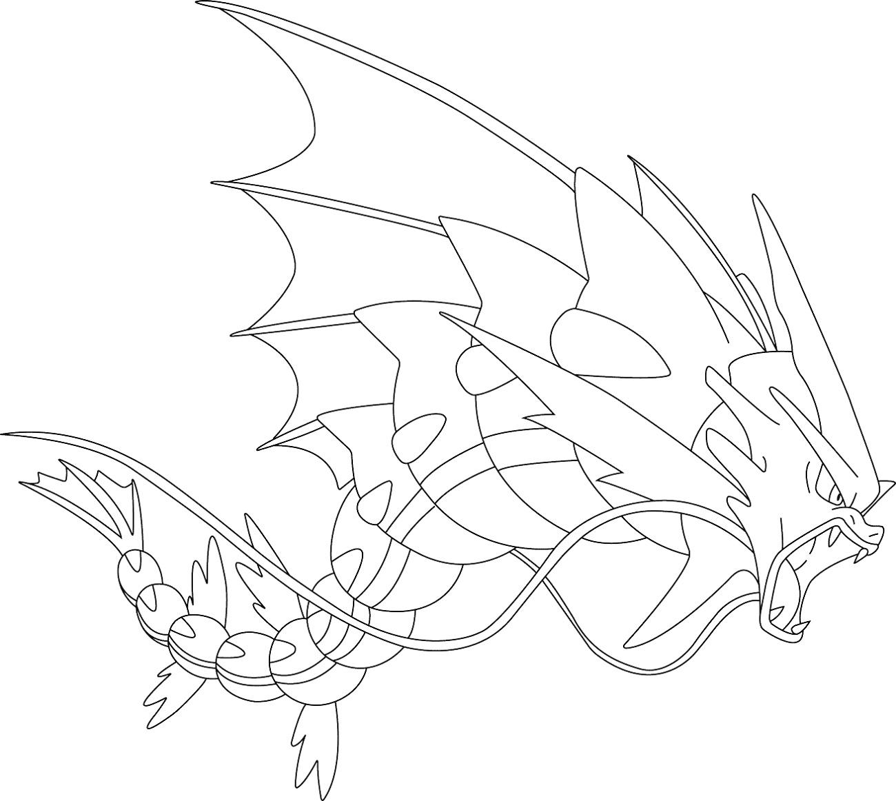 Mega Pokemon Coloring Pages Gyarados