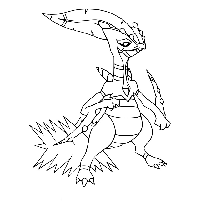 Mega Pokemon Coloring Pages Sceptile