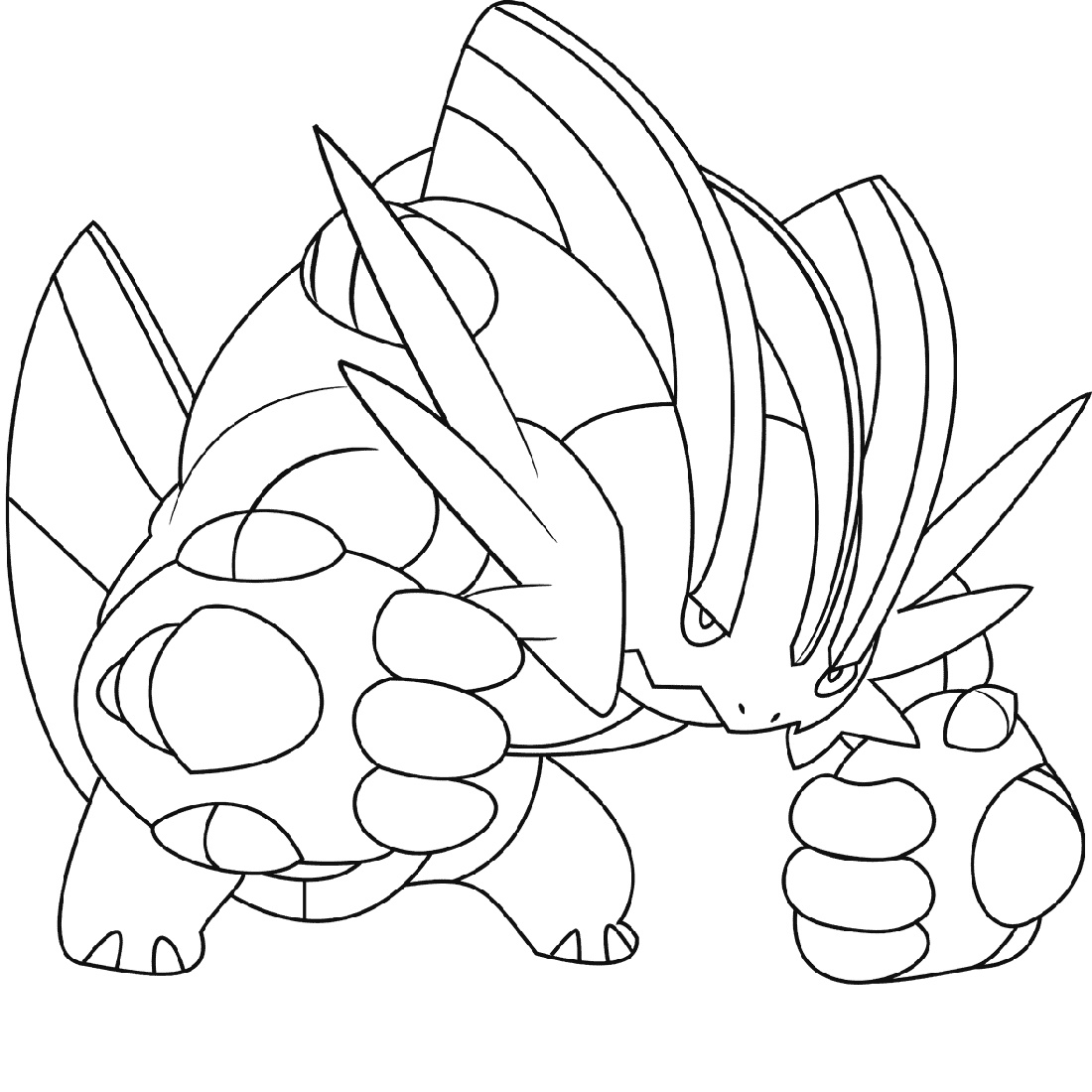 Mega Pokemon Coloring Pages Swampert