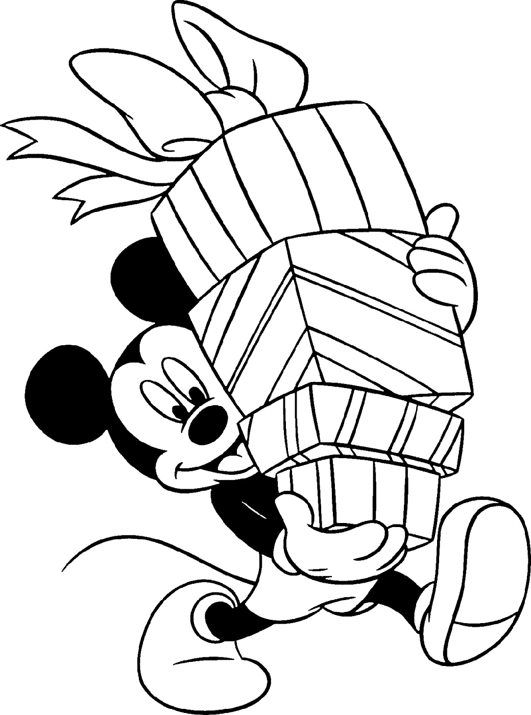 Mickey Mouse Birthday Coloring Pages Printable