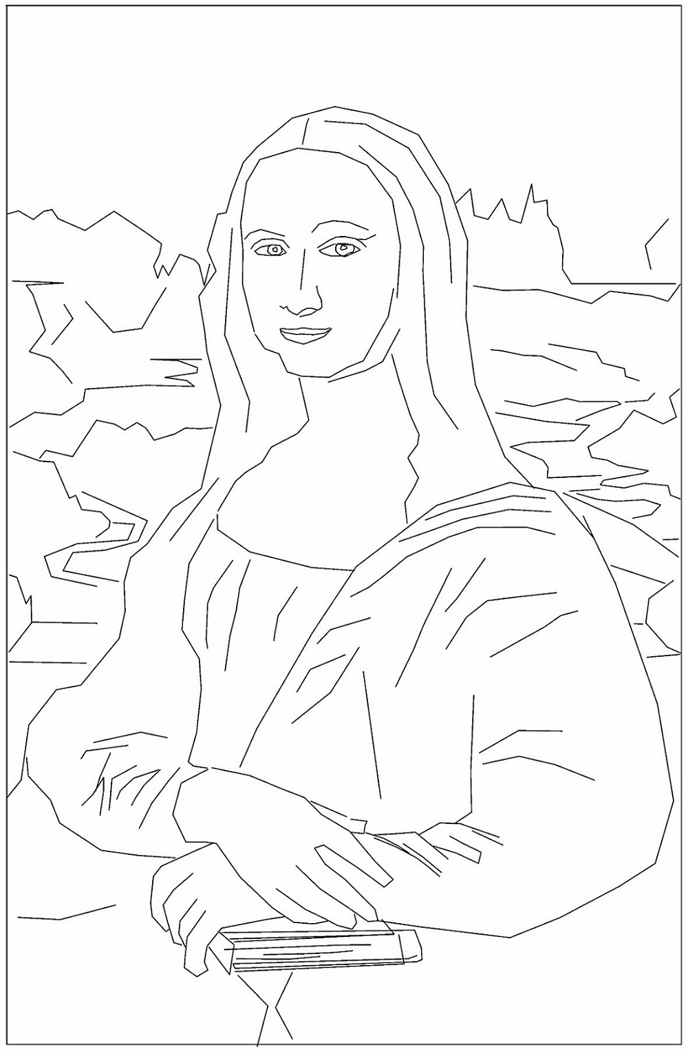 Mona Lisa Coloring Page ArtMona Lisa Coloring Page Art