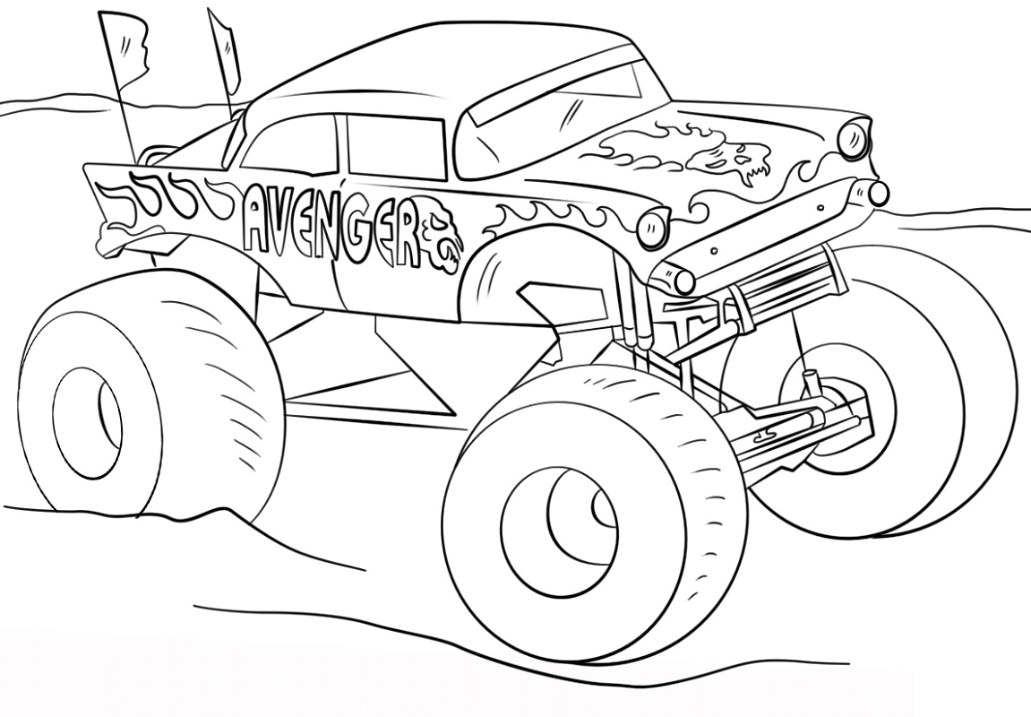 Monster-Truck-Coloring-Pages-Avenger.