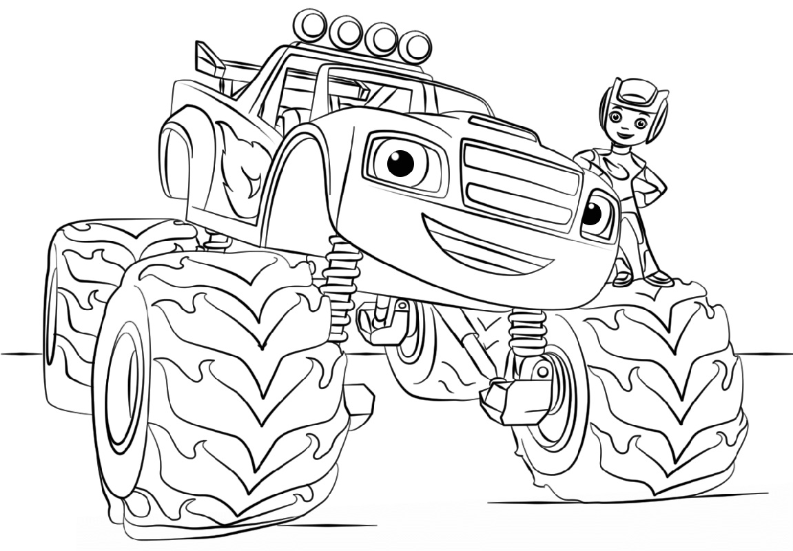 Monster Truck Coloring Pages For Kids