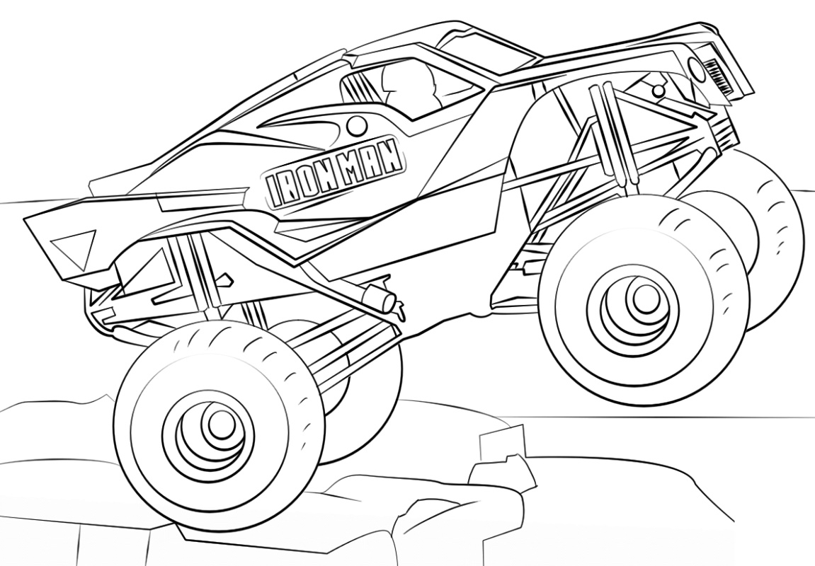 Monster Truck Coloring Pages Iron Man