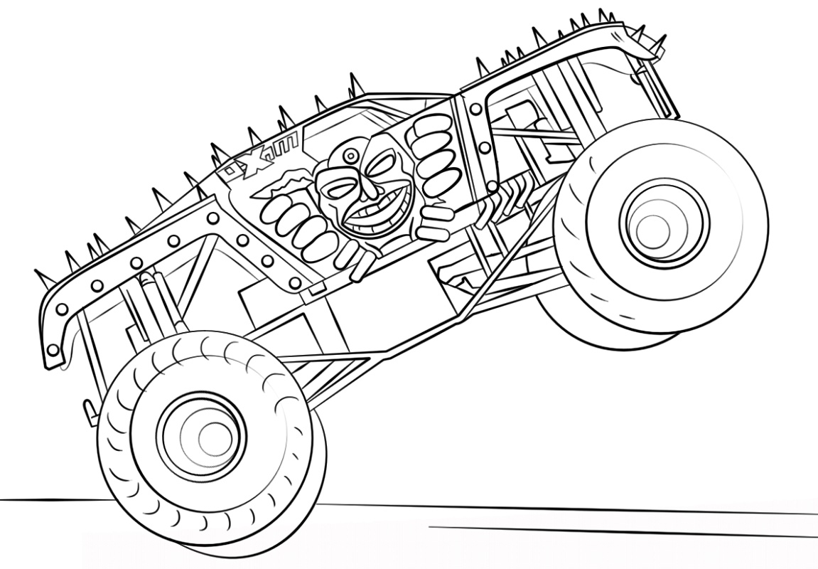 Monster Truck Coloring Pages Max D