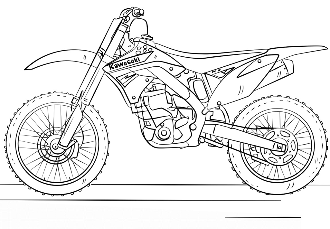 Motorcycle Coloring Pages Kawasaki