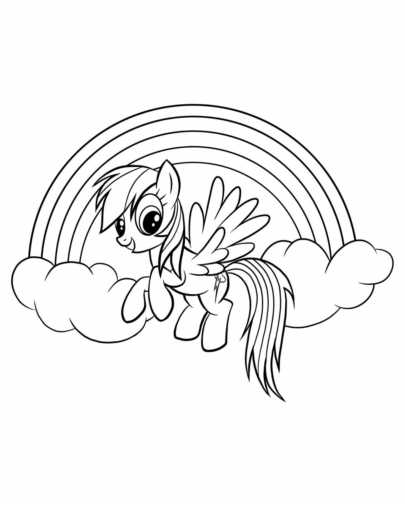 My Little Pony Coloring Pages Rainbow Dash And Rainbow