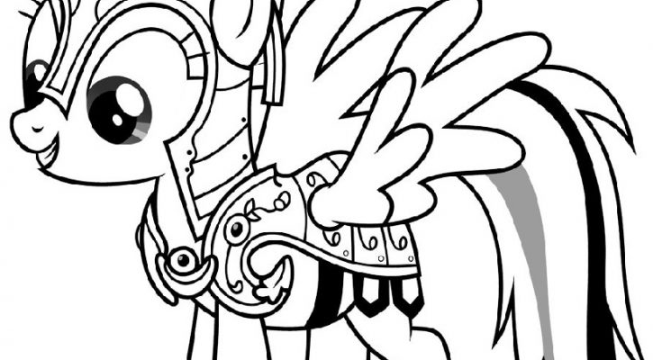 My Little Pony Coloring Pages Rainbow Dash Printable