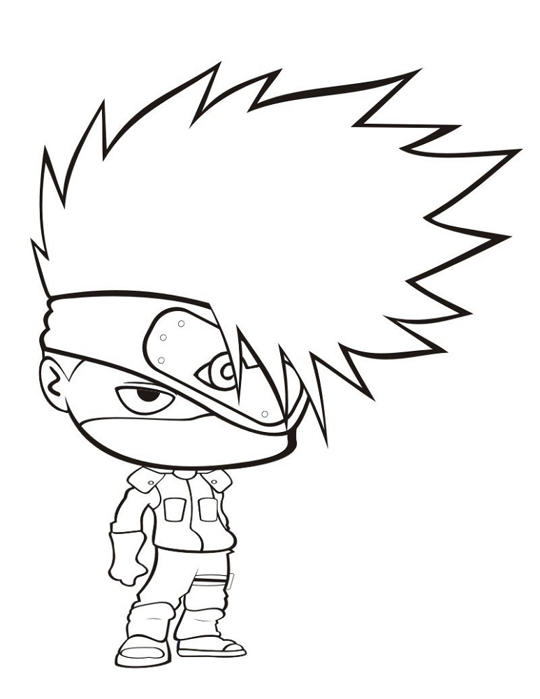 Naruto Coloring Pages Kakashi Chibi