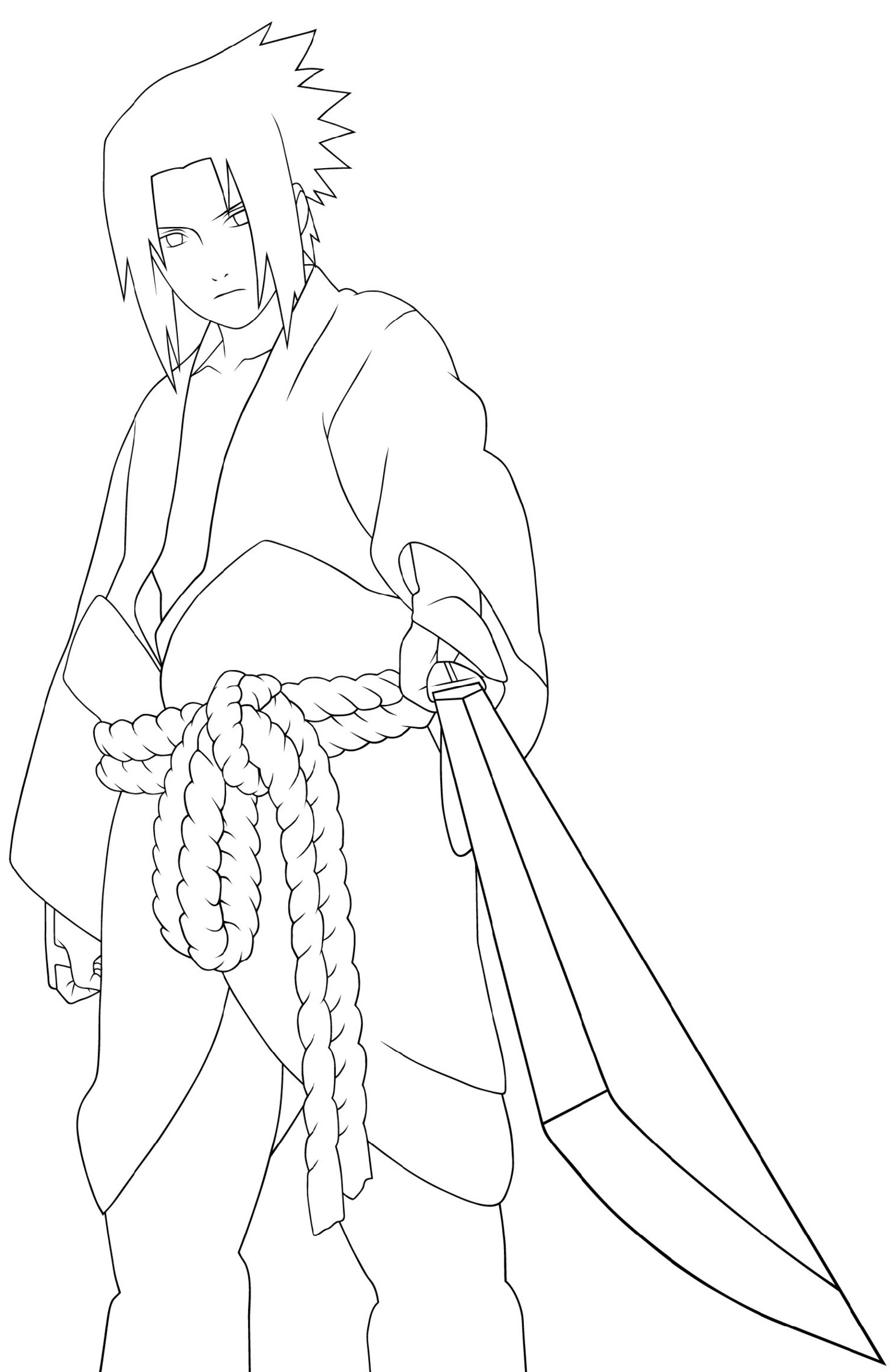 Naruto Coloring Pages Sasuke