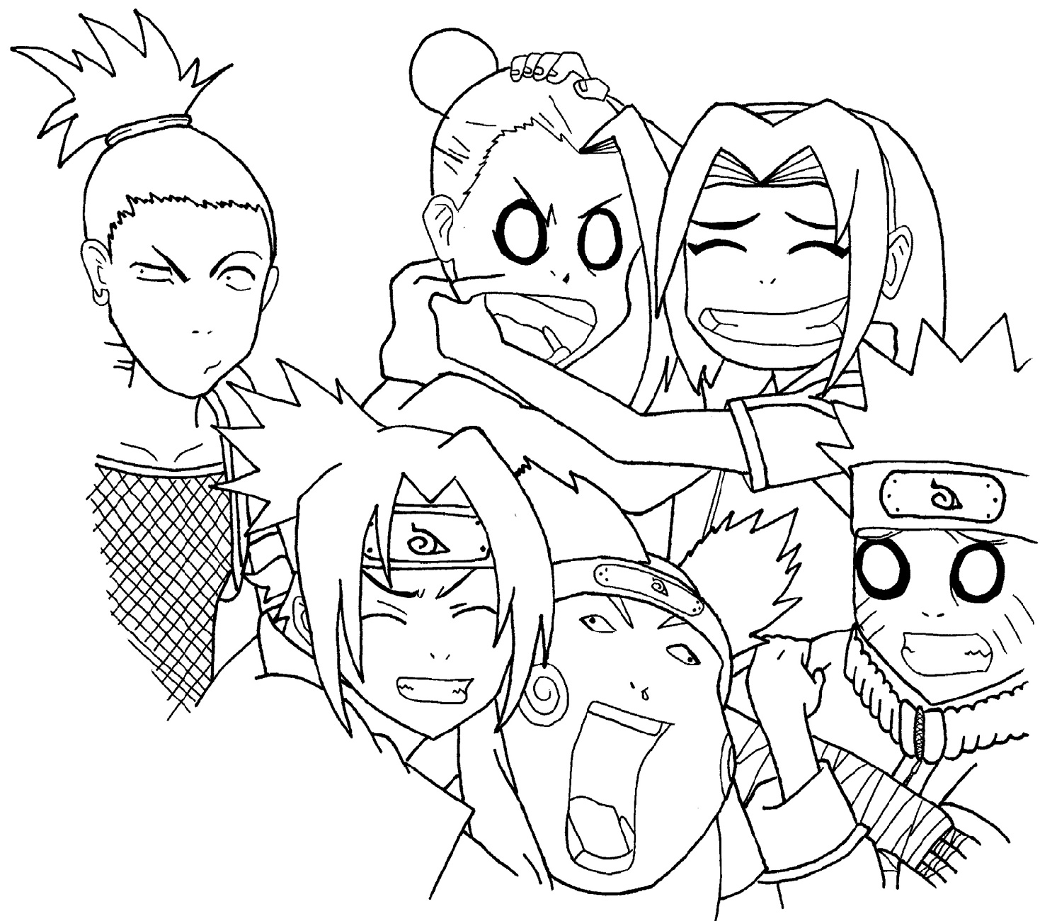 Naruto Coloring Pages Squad