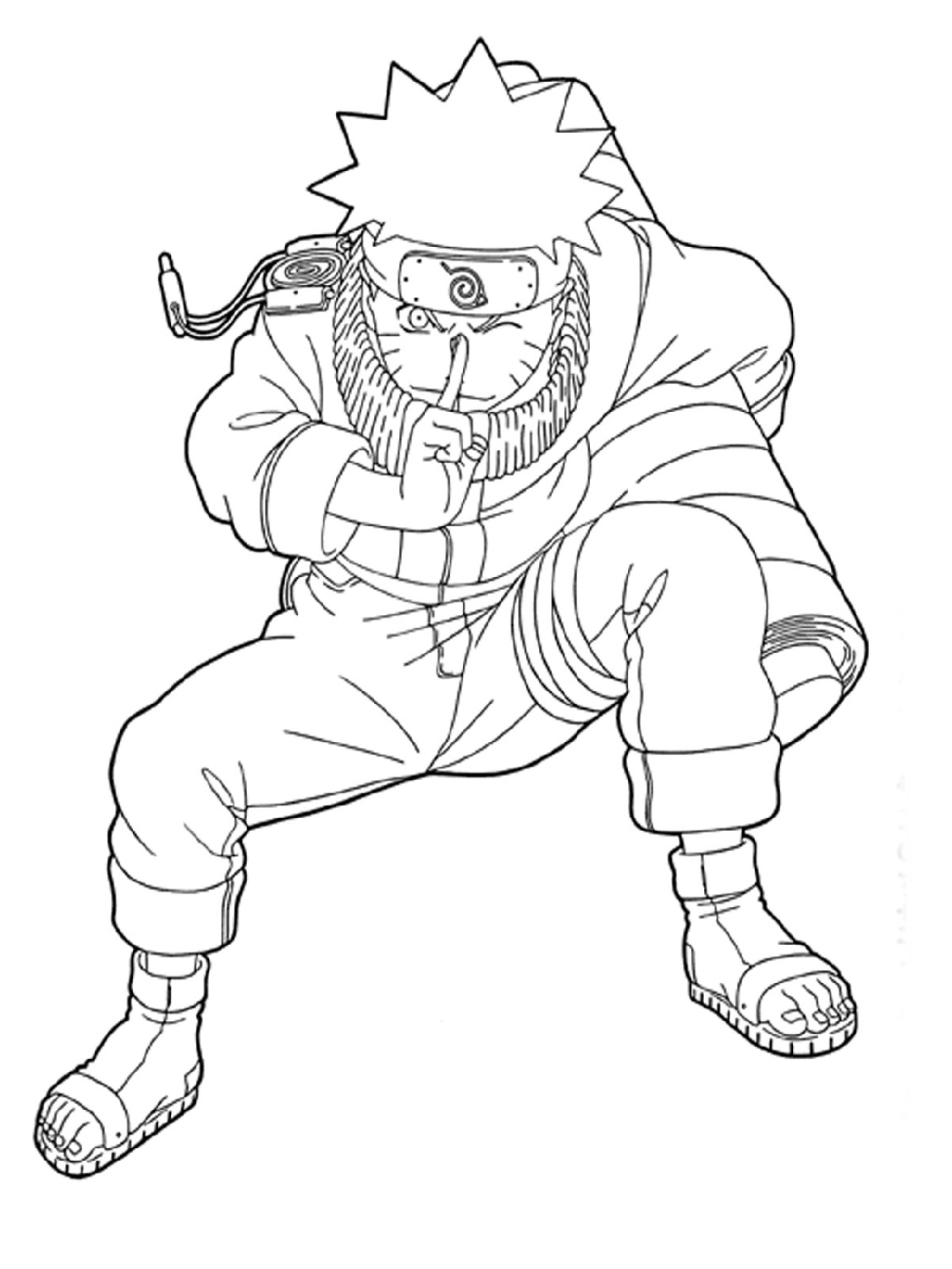 Naruto Coloring Pages Uzumaki Naruto