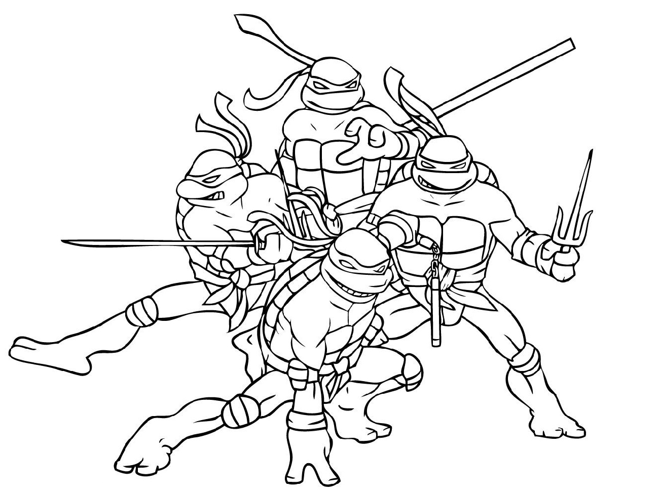 Ninja Turtle Coloring Sheets Nickelodeon