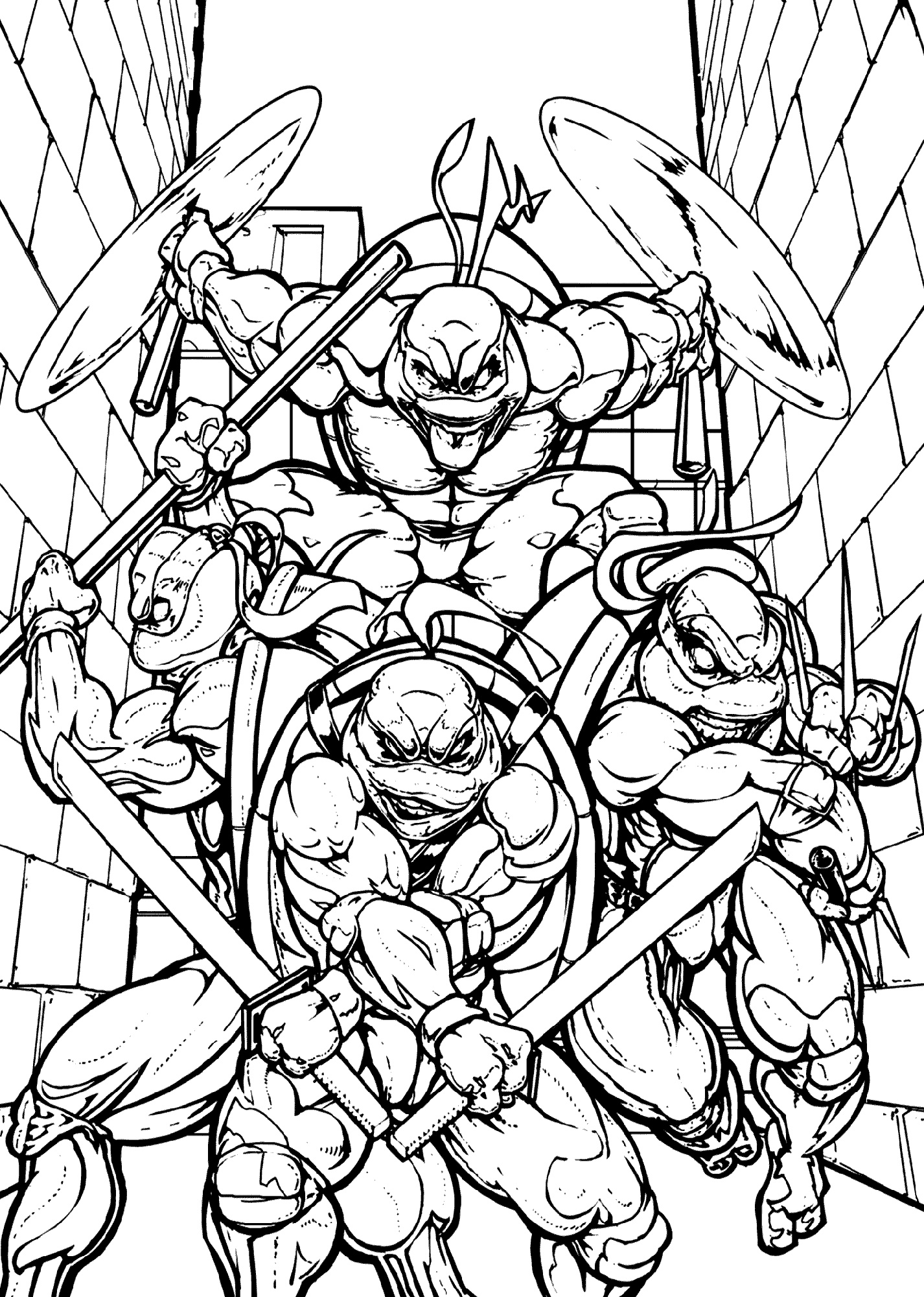 Ninja Turtle Coloring Sheets Printable