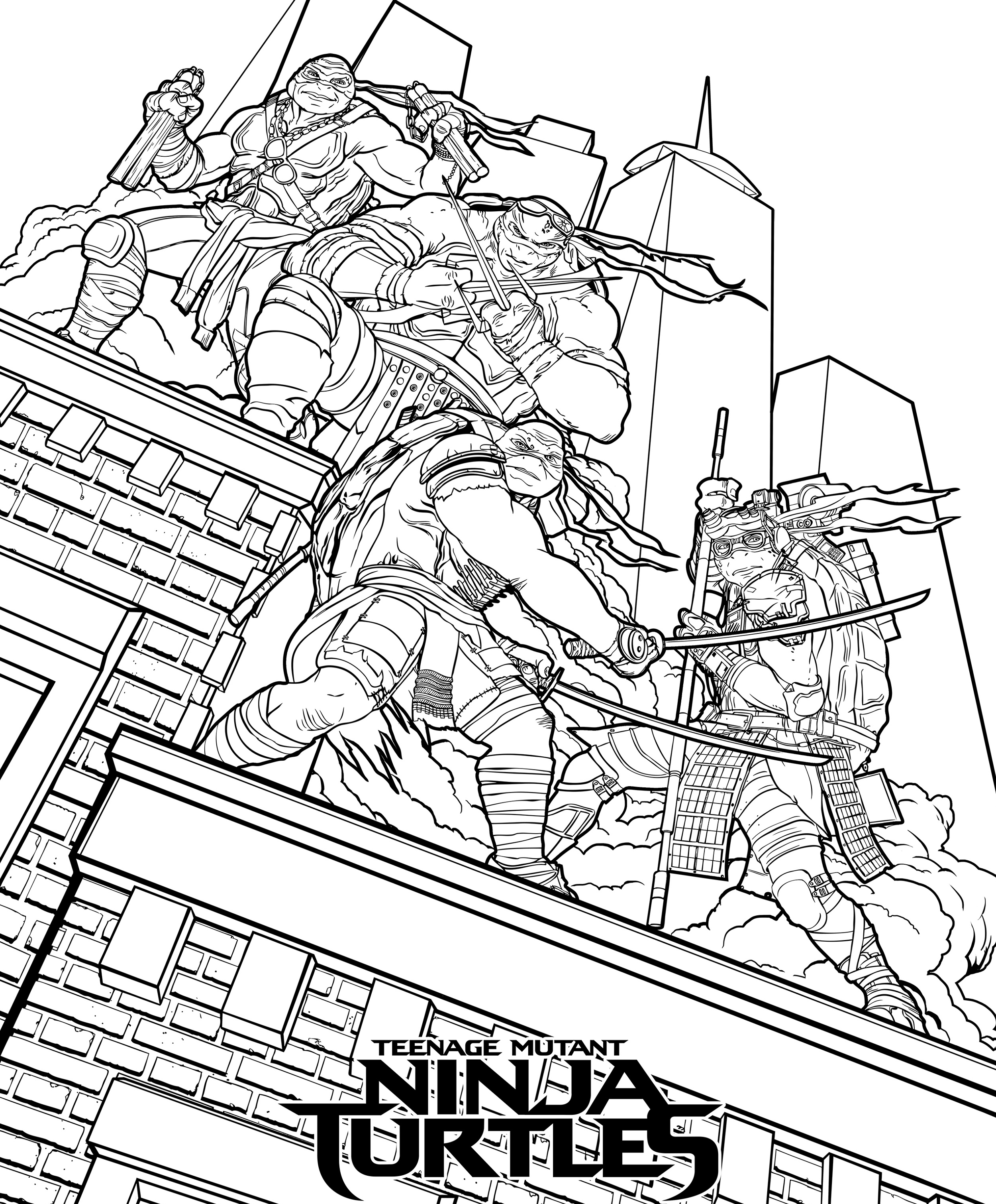 Ninja-Turtle-Coloring-Sheets-To-Print