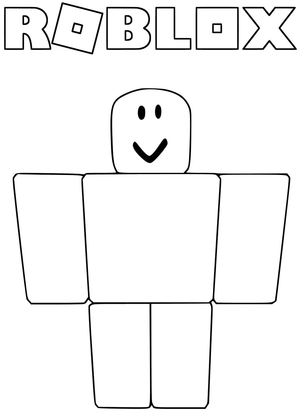 Noob From Roblox Coloring Pages