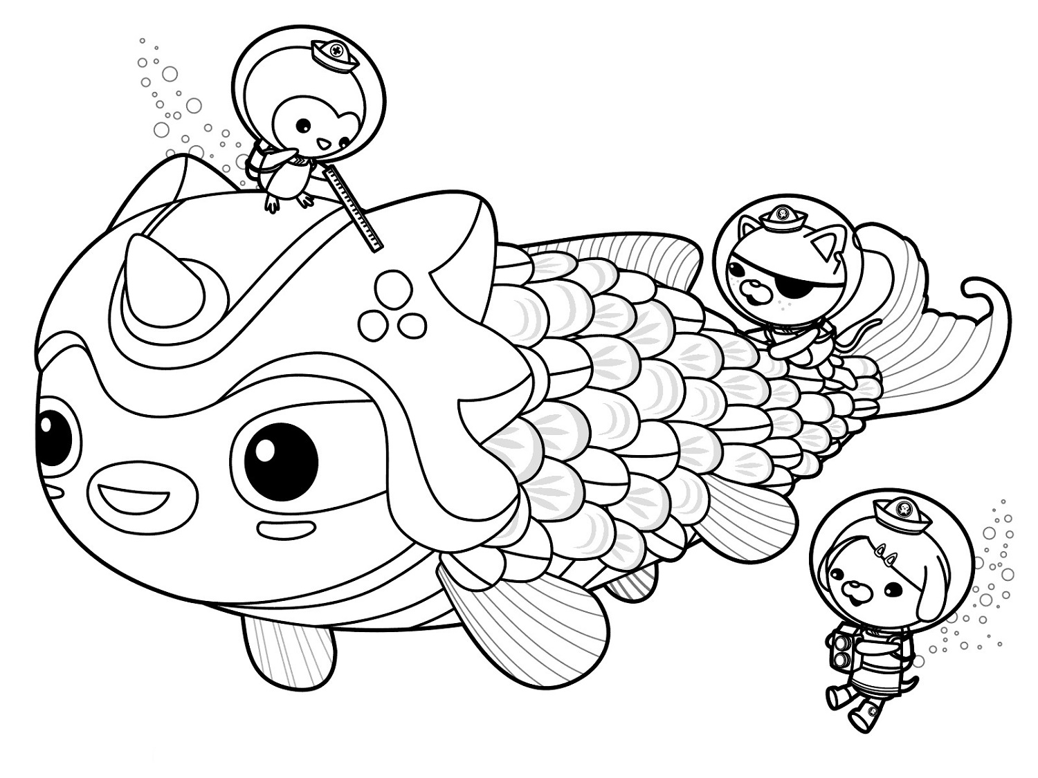 Octonauts Coloring Pages Meet Dunkie