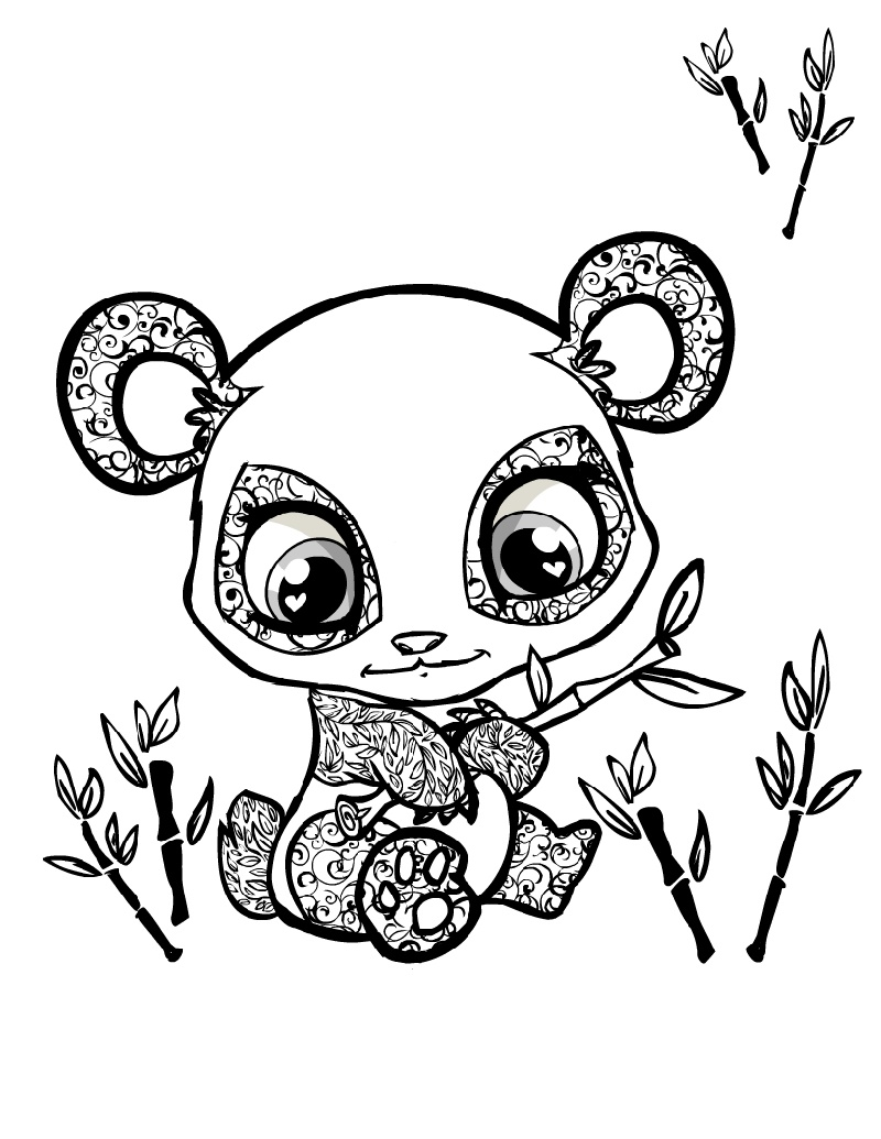 Panda Coloring Pages Baby