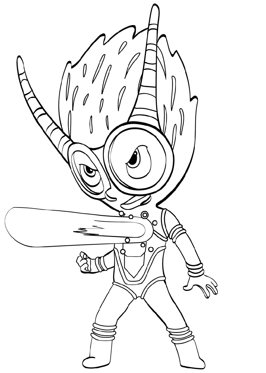 Pj Masks Coloring Pages Firefly Villain