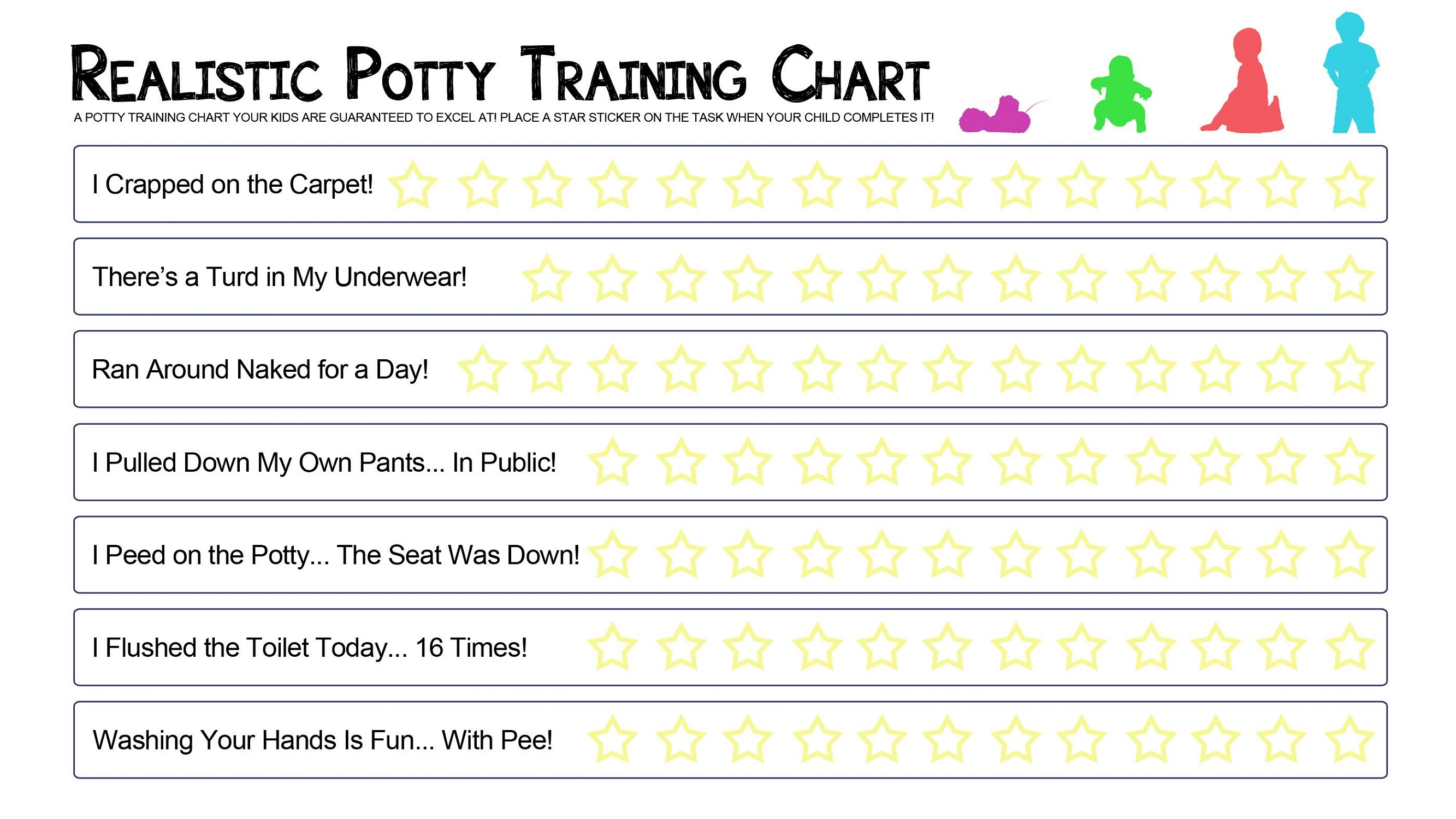 Potty Training Reward Chart Template