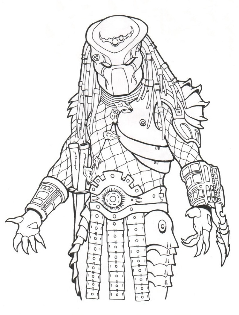 Predator Coloring Pages Free