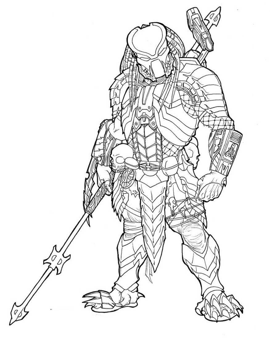 Predator Coloring Pages Printable