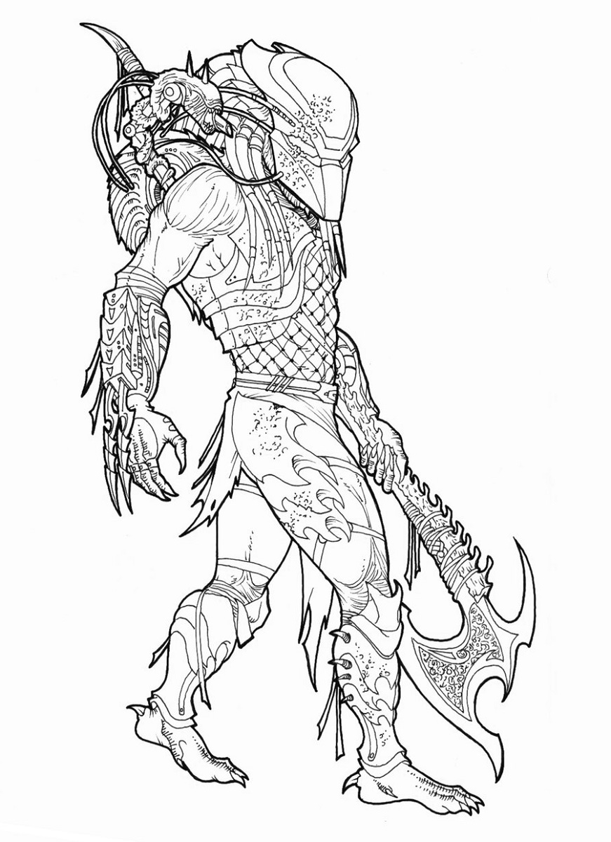 Predator Coloring Pages To Print