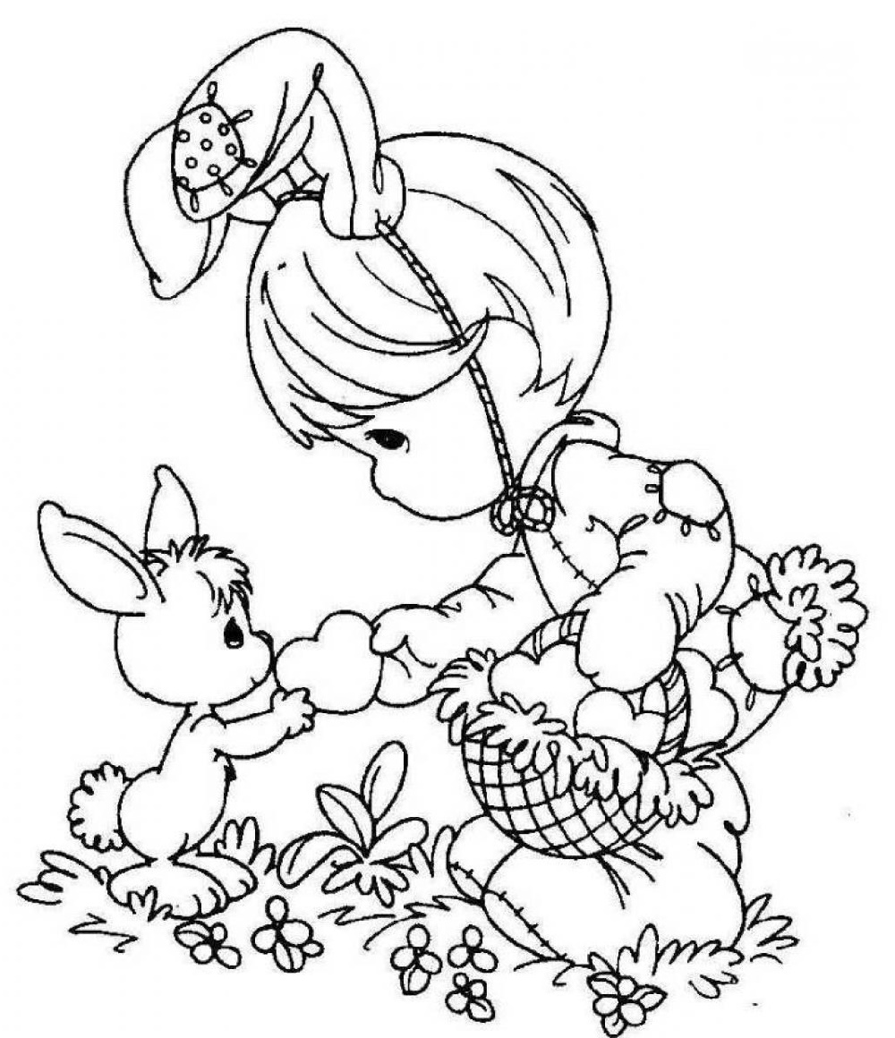 Printable Easter Coloring Pages Cute