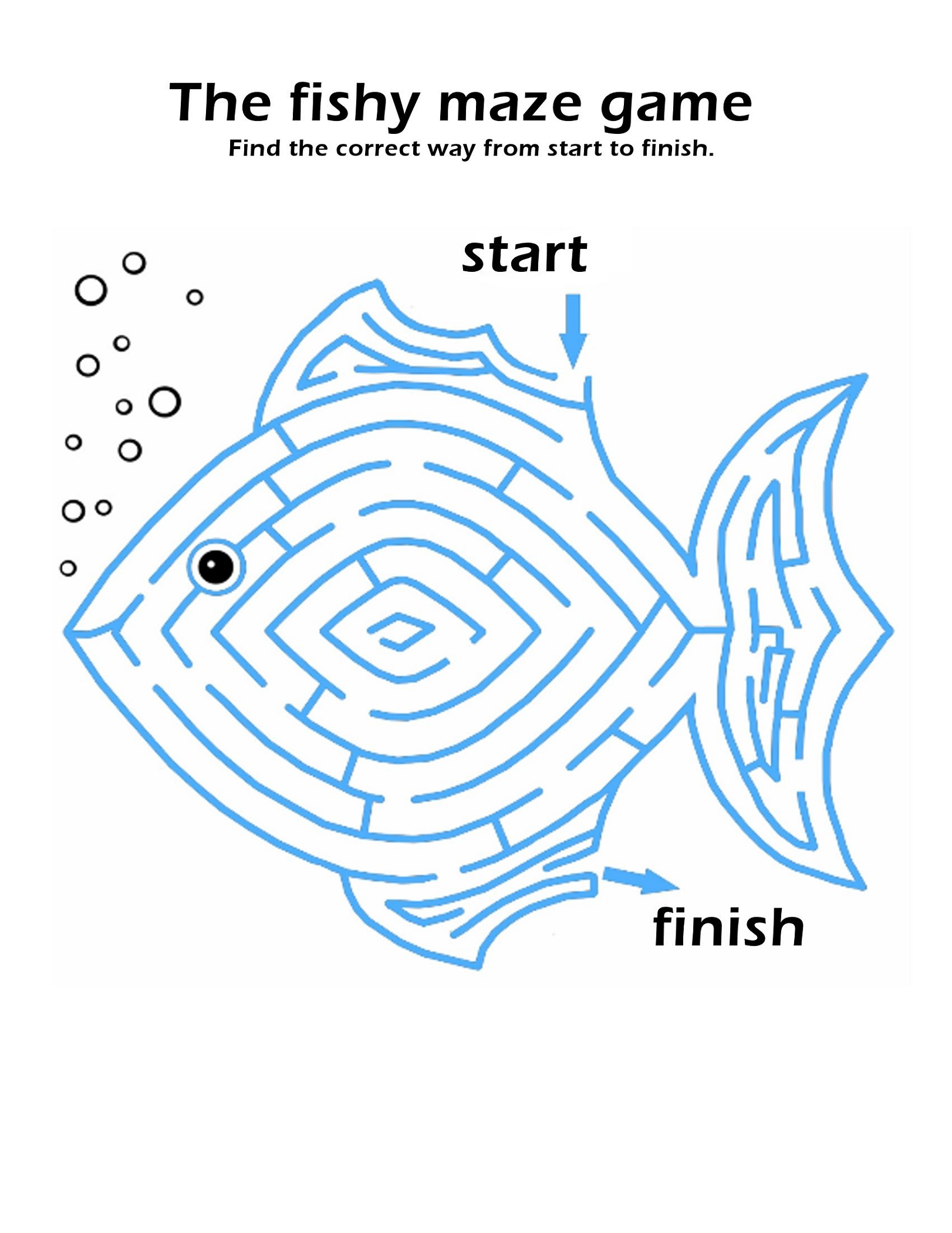Printable Puzzles For Children Maze