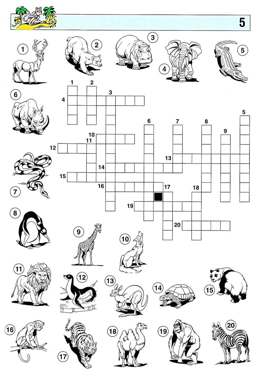 Printable Puzzles For Kids Crossword