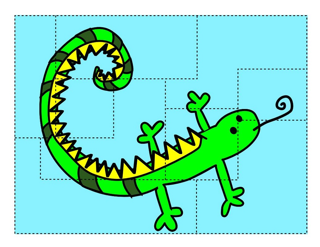 Printable Puzzles For Kids Lizard