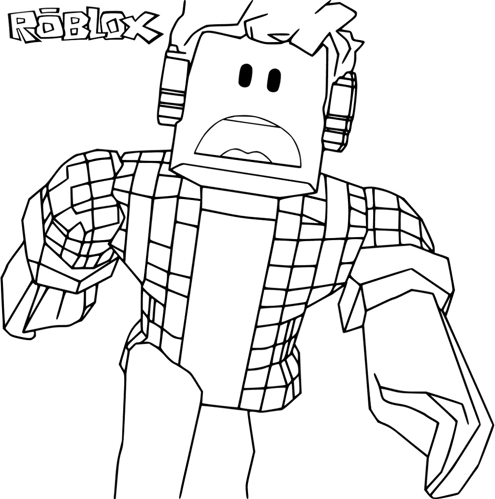 Roblox Coloring Pages | K5 Worksheets