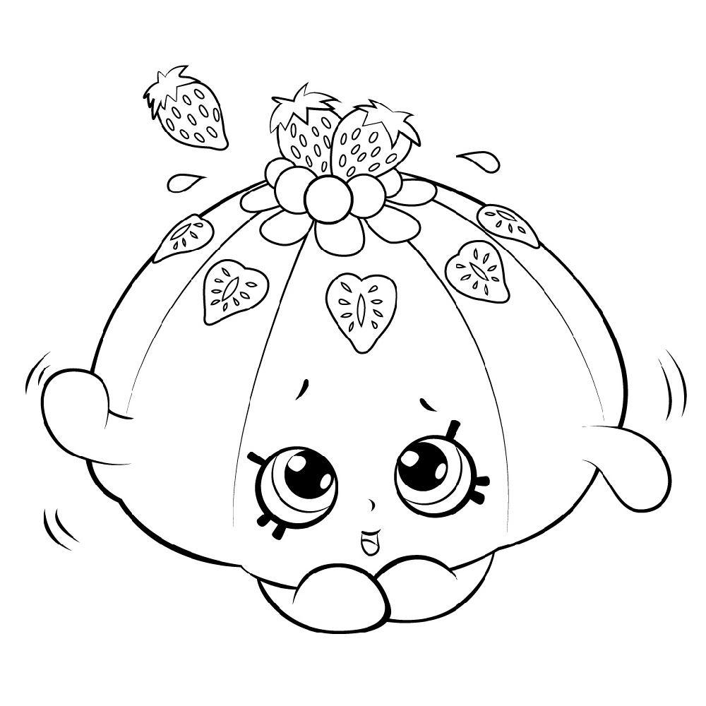 Shopkin Coloring Pages Cute Fruit Jello