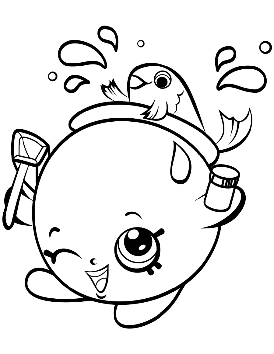 Shopkin Coloring Pages Goldie Fishbowl