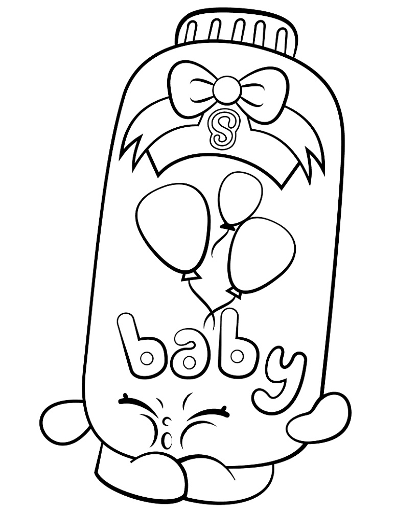 Shopkin Coloring Pages Powder Baby Puff