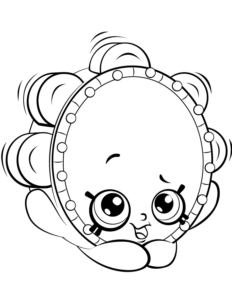 Shopkin Coloring Pages Tammy Tambourine