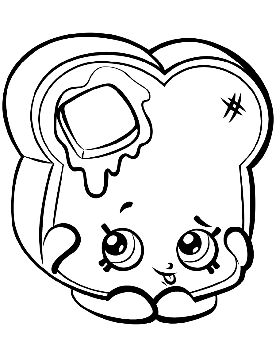 Shopkin Coloring Pages Toastie Bread