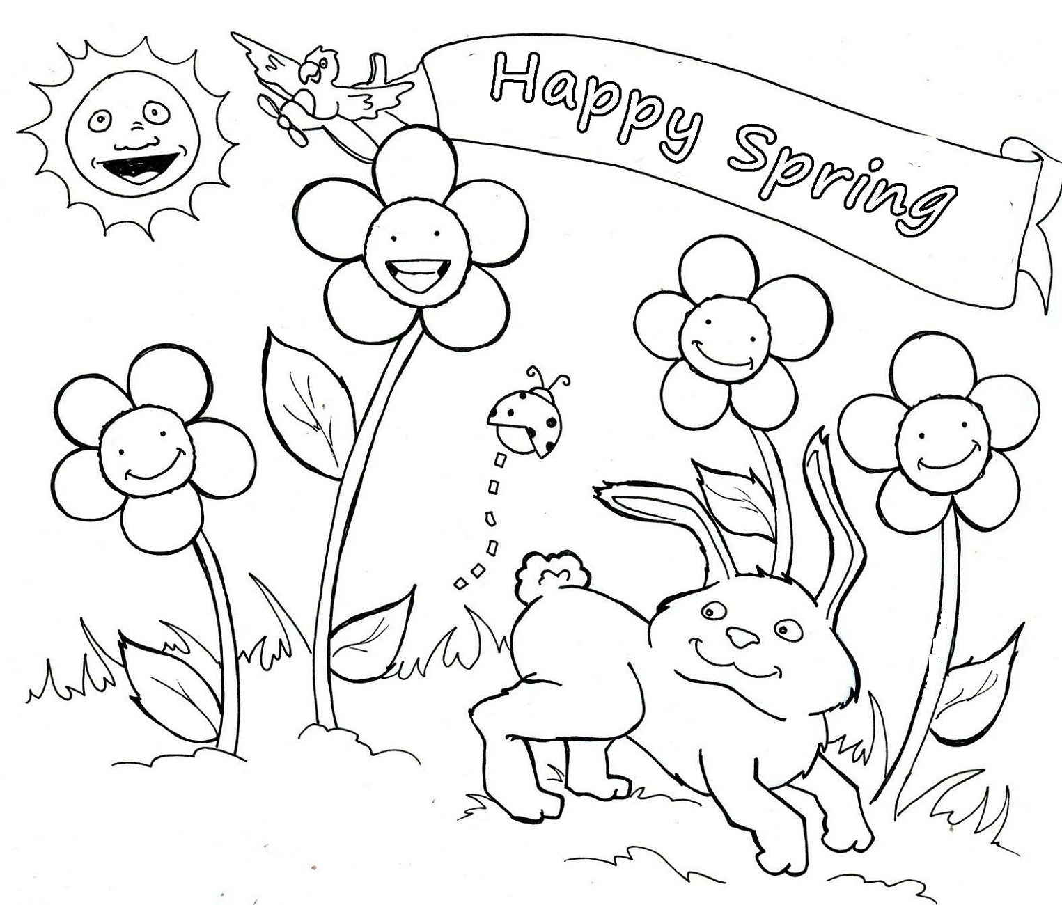 Spring Coloring Sheets For Kids