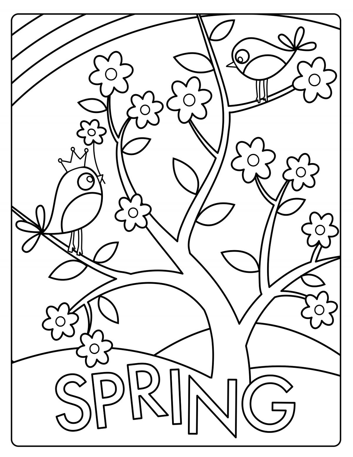 Spring Coloring Sheets To Print